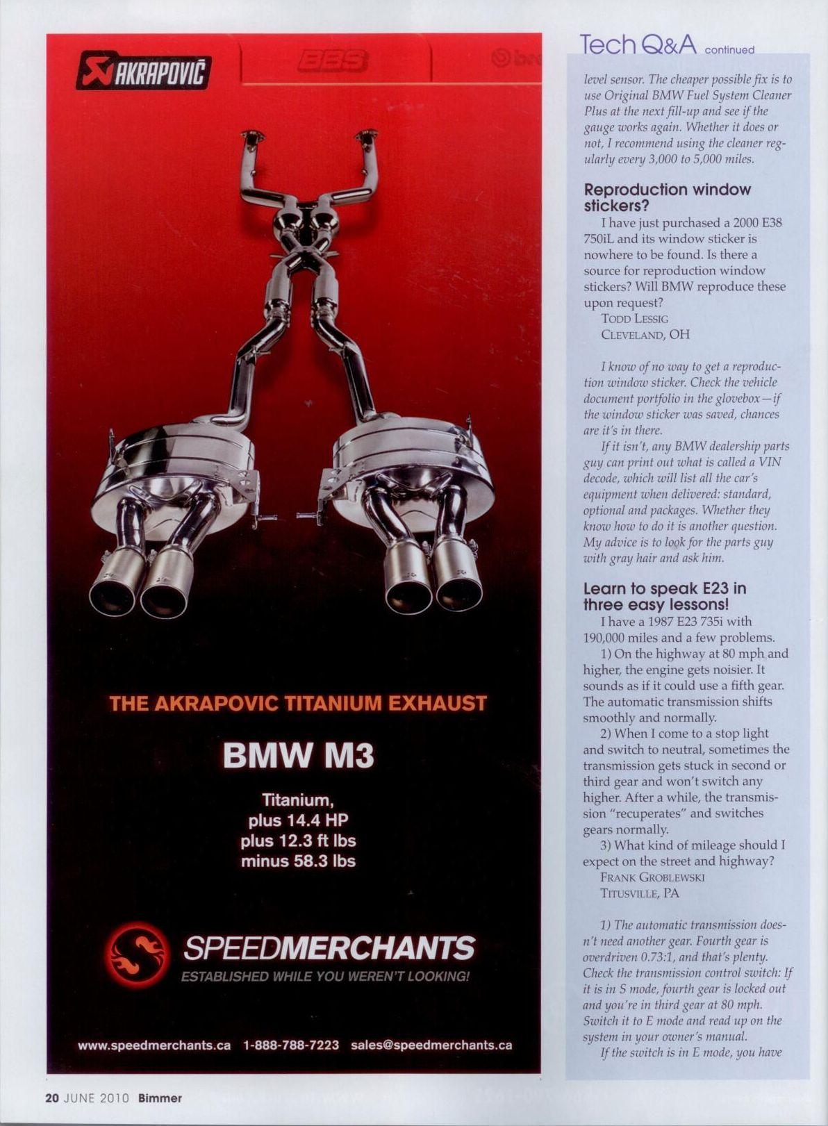 newest BIMMER magazine.